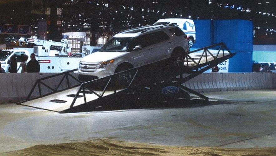 Teeter Totter Ramp For Auto Show Exhibit